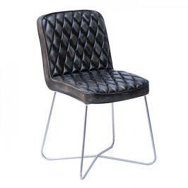Papillon Jídelní židle kožená Swansea, černá/antracit
