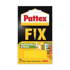 Lepicí proužky PATTEX SUPER FIX 4 cm x 2 cm/10 ks