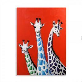 Papillon Obraz Žirafy 100 cm, olej na plátně