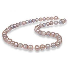 JwL Luxury Pearls Náhrdelník s pravými růžovými perlami JL0266 stříbro 925/1000
