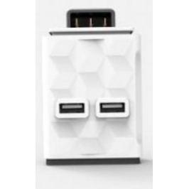 Allocacoc Module 2x USB , bílá