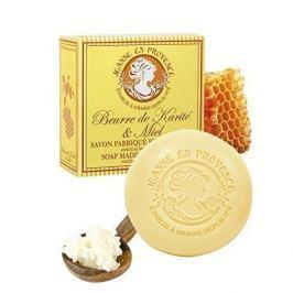 Jeanne En Provence Luxusní hydratační tuhé mýdlo Bambucké máslo a med (Soap Made In Provence Enriched With Shea Butter)