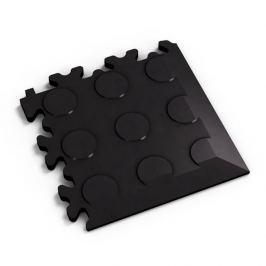 Fortelock Černý plastový vinylový rohový nájezd Eco 2046 (penízky) - 14 x 14 x 0,7 cm