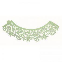 PME Ozdobný límec na košíčky zelený květiny 12ks