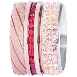 Preciosa Sada tří vrstvených prstenů v bronzové a červené barvě 7304 70 (Obvod 53 mm)