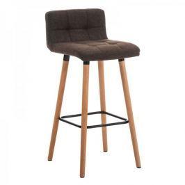 BHM Germany Barová židle s dřevěnou podnoží Connie, hnědá