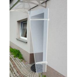 LanitPlast univerzální boční stěna LANITPLAST UNI bílá / PLEXI