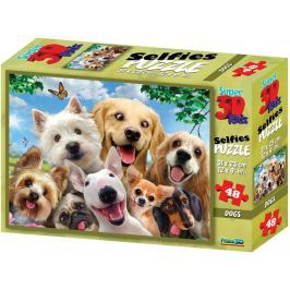 Lamps 3D Puzzle Dogs 48 dílků