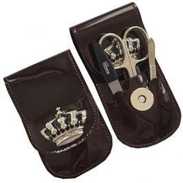 DuKaS Cestovní manikúrová sada 3 dílná s korunkou vínová PL8791