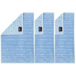 Cawö Frottier ručník aqua, pruhy, 3 ks modrá