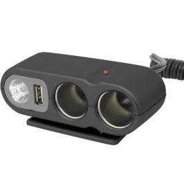CarPoint Rozdvojka 12V - s USB výstupem / kabelem