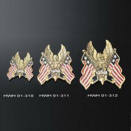 Highway-Hawk emblém samolepící,  EAGLEK/USA FLAG, 95mm