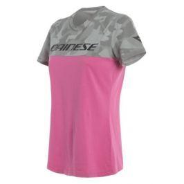 Dainese dámské triko CAMO-TRACKS LADY vel.S růžová/camo