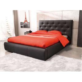 JASMINE, postel 180x200, černá ekokůže