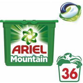 Ariel Mountain Spring 3v1 gelové kapsle na praní 36 ks