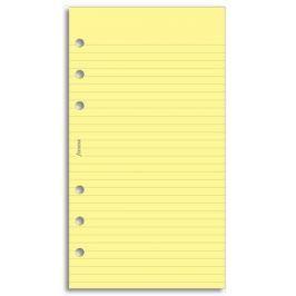 Náhradní náplň do diáře Filofax Osobní papír linkovaný, žlutý, 30 listů