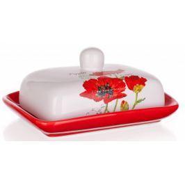 Banquet Máslenka keramická RED POPPY