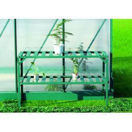 LanitPlast AL regál LANITPLAST 126x50 cm dvoupolicový zelený