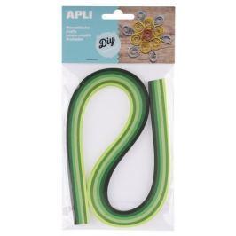 Quilling Apli papírové proužky zelené tóny, 120 proužků