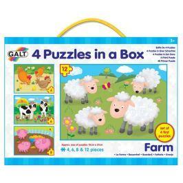 Galt 4 Puzzle v krabici farma