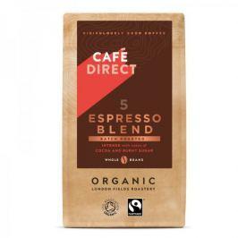 Cafédirect BIO Espresso Blend zrnková káva s tóny rumu a praženého cukru 227g