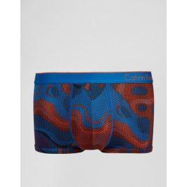 Calvin Klein oranžovo-modré pánské boxerky Micro Low Rise Trunk U8516 - Velikost: S