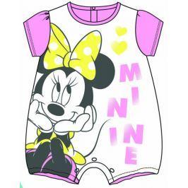 Disney by Arnetta dívčí overal Minnie 56 - 62 bílá/růžová