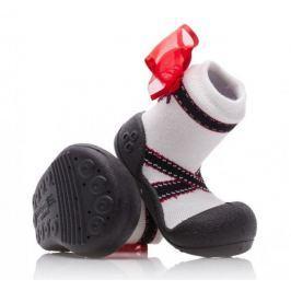 Attipas dívčí botičky Ballet Black 19 bílá/černá