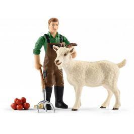 Schleich Farmář s kozou 42375