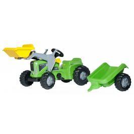 Rolly Toys Šlapací traktor Kid Futura s vlečkou a předním nakladačem