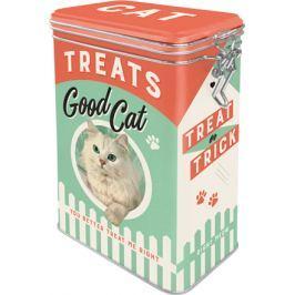 Postershop Plechová dóza s klipem Good Cat Treats