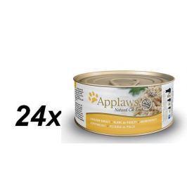 Applaws Konzerva Cat - kuřecí prsa 24 x 70g