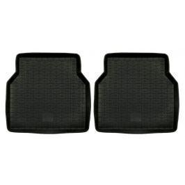 POLGUM Gumové koberce, zadní, 2 ks, černé, 47,5 x 46 cm, pro vozy typu Audi, Citroen, Fiat, Opel, Peugeot, Renault, VW a další