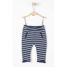 s.Oliver dívčí pruhované kalhoty 62 modrá