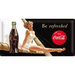 Postershop Plechová cedule 25x50 cm Coca-Cola (Be Refreshed)