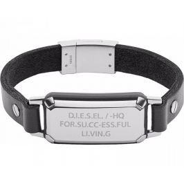 Diesel Stylový kožený náramek DX1018040