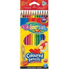 Pastelky trojhranné Colorino 12 + 1 barva (zlatá + stříbrná)