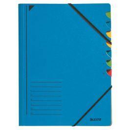 Třídící desky s gumičkou Leitz A4, 7 listů, modré