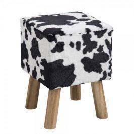 Design Scandinavia Taburetka čtvercová Marlen, kraví design