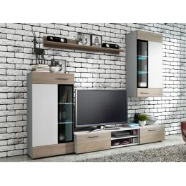 Obývací stěna TANGO, bílá/dub sonoma