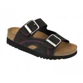 Scholl Zdravotní obuv MOLDAVA WEDGE AD - černá/fuchsiová (Velikost vel. 38)