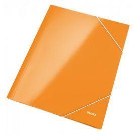 Mapa odkládací se 3 klopami Leitz WOW A4 metalicky oranžová