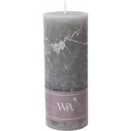 Wittkemper Svíčka rustikální šedá 7 x 7 x 18 cm