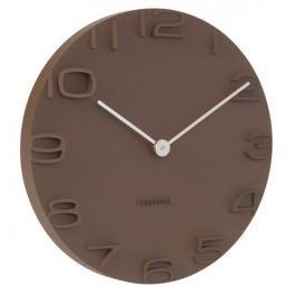 Karlsson Nástěnné hodiny KA5311 hnědá - rozbaleno