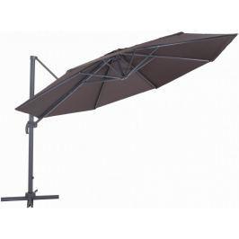 MAKERS Verona - boční slunečník 3,5 m, hnědý - rozbaleno