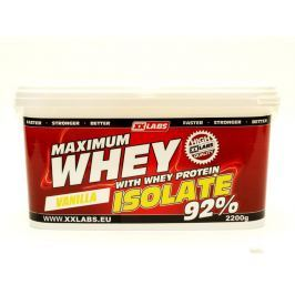 XXlabs Maximum Whey Protein Isolate 92, 2200 g Vanilka