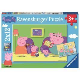Ravensburger Peppa pig celá rodina 2x12 dílků