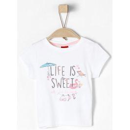 s.Oliver dívčí tričko 68 bílá