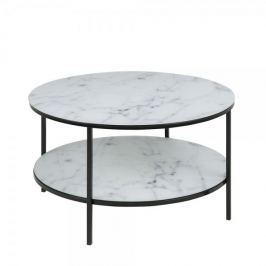 Design Scandinavia Konferenční stolek s policí Alma, 80 cm