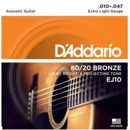 Daddario EJ10 Kovové struny pro akustickou kytaru